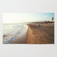 santa monica Area & Throw Rugs featuring Santa Monica by Kelli Anne