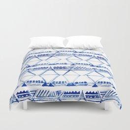 Tribal indigo pattern Duvet Cover