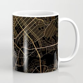 Black and gold Manila map Coffee Mug
