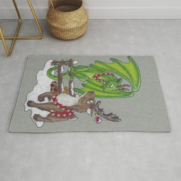 Reindeer Dragon Rug