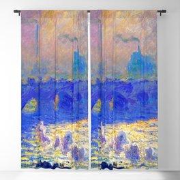 Claude Monet Waterloo Bridge Blackout Curtain