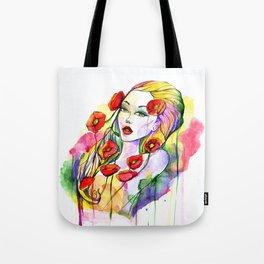 Waterolor beautful girl Tote Bag