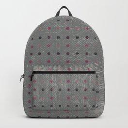 Abstract vintage pink coral gray polka dots pattern Backpack