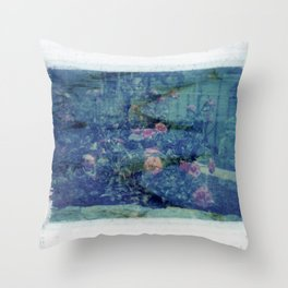 Double Exposed Nature Throw Pillow