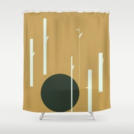 Moon in the woods Shower Curtain