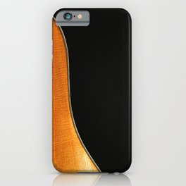 Acoustic Guitar Abstract Curve no 3. iPhone Case