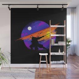 Sunset Samurai Wall Mural
