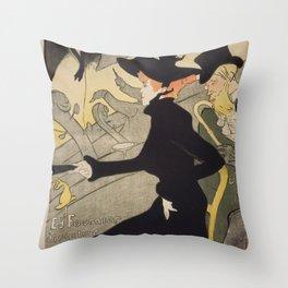 Henri Toulouse Lautrec / Divan Japonais Throw Pillow