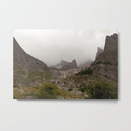Majestic Mountain Landscape Alps Metal Print