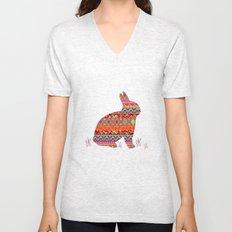 India Style Pattern (Multicolor) Unisex V-Neck