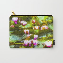 Water Lilys Art Carry-All Pouch