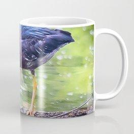 Green Heron Hunting Coffee Mug