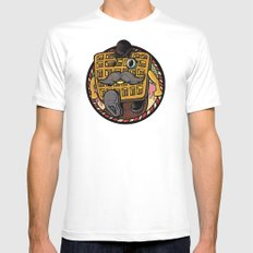 Distinguished Waffleman. Mens Fitted Tee White MEDIUM