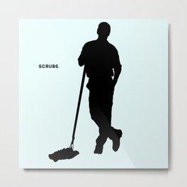 Janitor Scrubs Metal Print