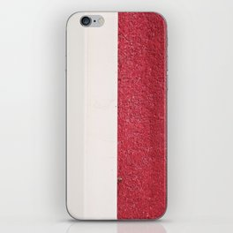 White Red iPhone Skin