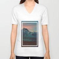 garden V-neck T-shirts featuring Garden by Daniel Montero