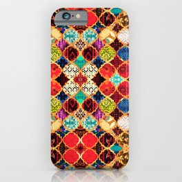 N96 - Heritage Traditional Islamic Moroccan Tiles Style Artwork. iPhone Case