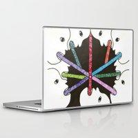 propaganda Laptop & iPad Skins featuring propaganda by Rinneko