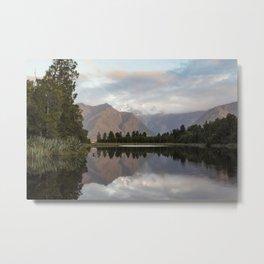 New Zealand Lake at sunset Metal Print