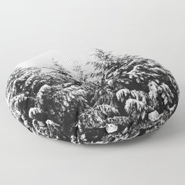 Winter Wanderlust Woods III - Snow Capped Forest Nature Photography Floor Pillow