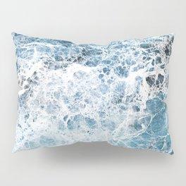 Sea foam blue marble Pillow Sham