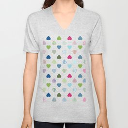 AFE Colorful Hearts Unisex V-Neck