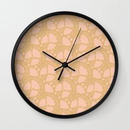 Golden papillon Wall Clock