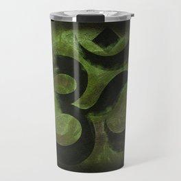 OM Tibetan Green Travel Mug