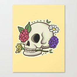 Flowery Skull Canvas Print