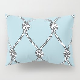 Rope Knots Print- Light Blue Pillow Sham