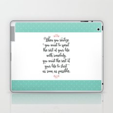 Quote from When Harry Met Sally Laptop & iPad Skin