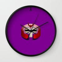 magneto Wall Clocks featuring Magneto by Oblivion Creative