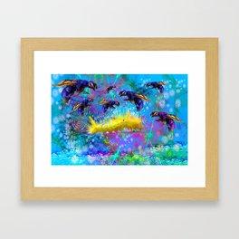 Waspy Predators In Wait Framed Art Print