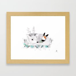 Goodnight my Deer Framed Art Print