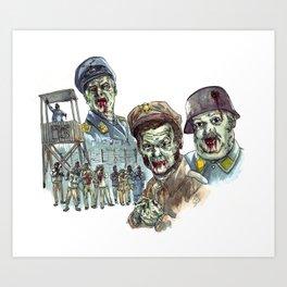 Hogan's Zombies Art Print