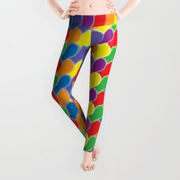 Pride Heart Scale Pattern Leggings