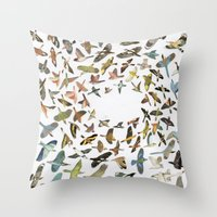birds Throw Pillows featuring Birds by Ben Giles