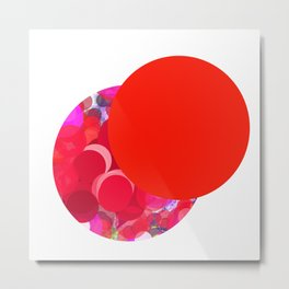 SexyPlexi dots  two love moons Metal Print