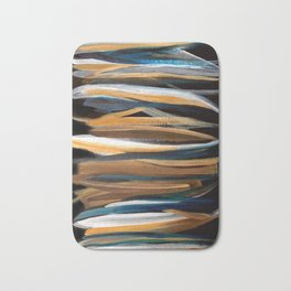 Brush Strokes on a Black Background Bath Mat