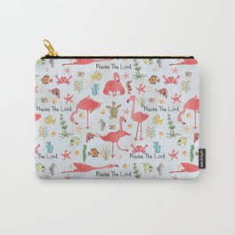 """Little Flamingo """"Praise the Lord"""" Carry-All Pouch"""