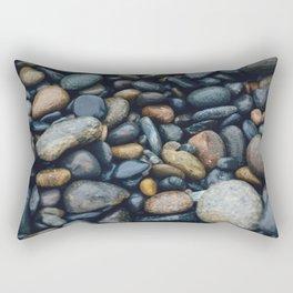 wet river rocks Rectangular Pillow