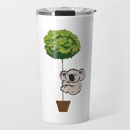 Koala Climbing to Tree Travel Mug