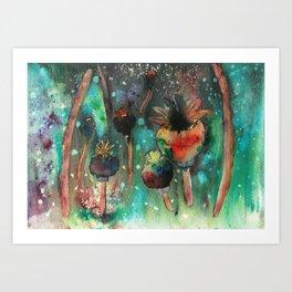 Seedheads Art Print