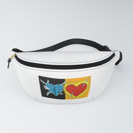 A broken heart in darkness to a heart full of love and light Fanny Pack
