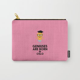 Geniuses are born in OSLO T-Shirt for all Ages Carry-All Pouch