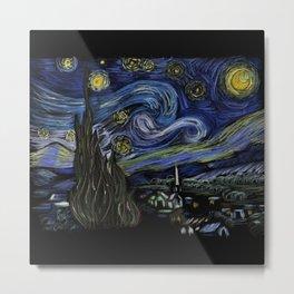 45…Starry night by Vincent Van Gogh Metal Print