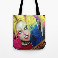 harley Tote Bags featuring Harley by Kim Shady