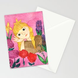 Gerda Listens To The Flowers Stationery Cards
