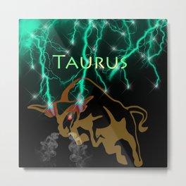 Taurus Birth Sign Metal Print