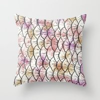 scales Throw Pillows featuring Scales by Valerie C. Salmon